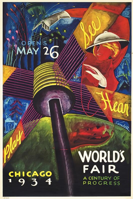 World's Fair 'A Century of Progress' - Chicago 1934, Illustration: (Sandor), A. Raymond Katz