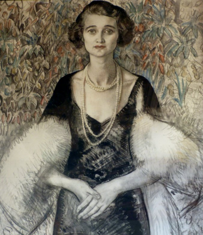 Kathleen Manners, 9th Duchess of Rutland. Sketch for an oil painting by Laura Knight.